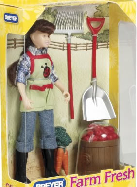 Breyer #61046 Olivia Farm Fresh Classic Farmer Girl Rider Doll & Props