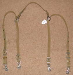 Tan Nylon Web Pony Anti-Grazing Reins