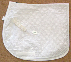 Dover Thin Quilted Dressage Pad Quilted Cotton Event Pad English Saddle Pad White