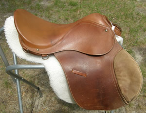 "16"" Rossi Y Caruso All Purpose English Saddle with Pad Argentina"