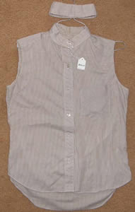 Ladies 32 Ratcatcher Sleeveless Show Shirt, English Shirt
