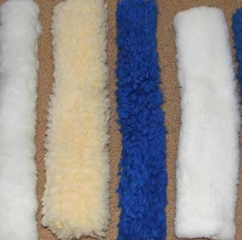 Halter Fleece Tube Fleece Crown Cover Fleece Piece White Blue Maize