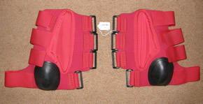 Ultimate Sport Boots Combo Boots Tendon Skid & Sport Boots Quick Wrap Skid & Tendon Boots Leg Protection Horse Red