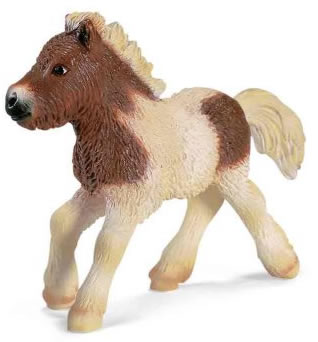 Schleich Pinto Shetland Pony Foal Horse Figurine #13608