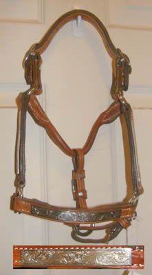 Foal Western Stock Show Halter Class A Mini Halter Miniature Horse Show Halter with Silver