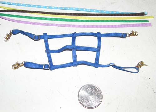 Breyer Model Horse Tack Props Model Horse Adjustable Nylon Web Stall Guard with Screw Eyes