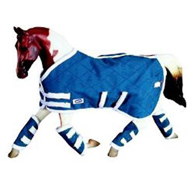 Breyer #3947 Blue Horse Blanket & Shipping Boots Set