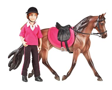 "Breyer #61068 Abigail English Rider Doll 6"" Classic Rider English Saddle Tack Set"