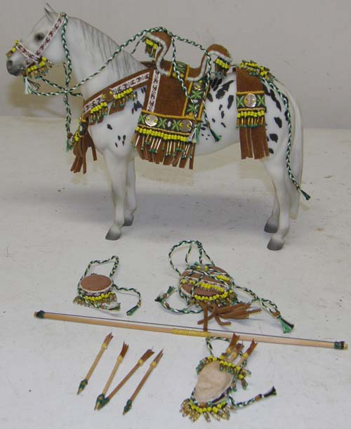 Breyer Horse or Resin Model Horse Tack Props Large Classic Small Traditional Indian Costume Native American Costume