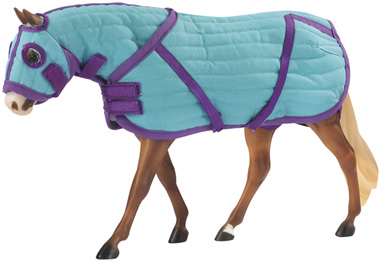 Breyer #2040 Teal Quilted Stable Blanket with Matching Hood