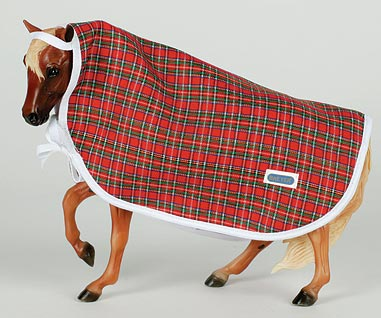 Breyer #2493 Show Cooler Plaid Horse Blanket