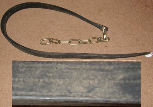 Draft Harness Leather Single Trace with Butt Chain Heel Chain Harness Replacement Parts