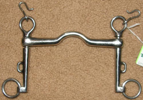 "Carlyle 5 1/2"" Ported Weymouth Curb Bit Sliding Cheek Weymouth Bit with Curb Chain Hooks"