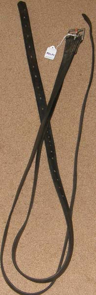 "Extra Long English Stirrup Leathers English Leathers Black Brown 1"" x 65"""