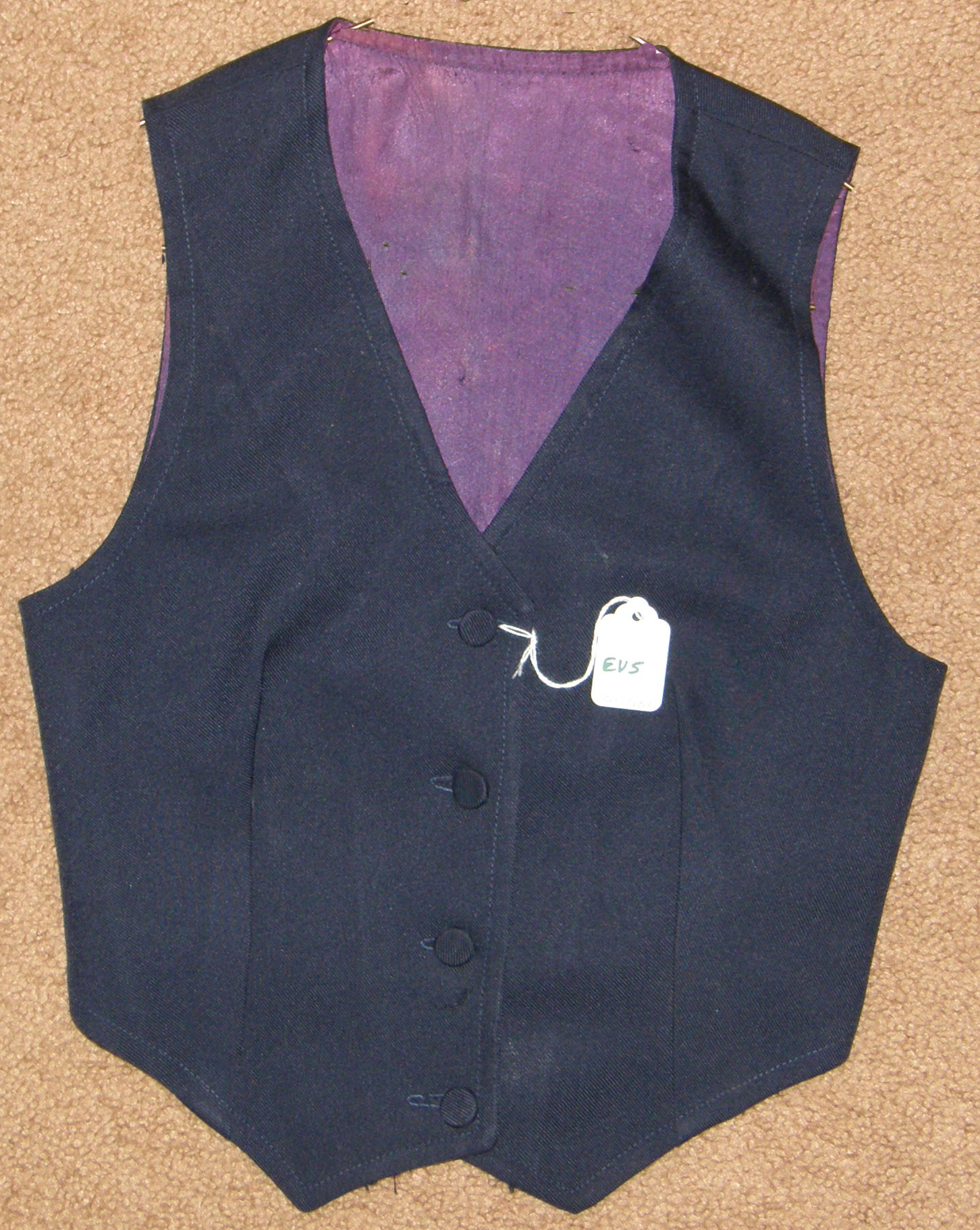 English Vest Saddleseat Suit Vest Navy Blue sz 8-10?