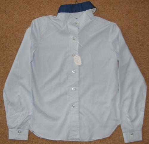Childs 12 Town & Country Long Sleeve Show Shirt, English Shirt