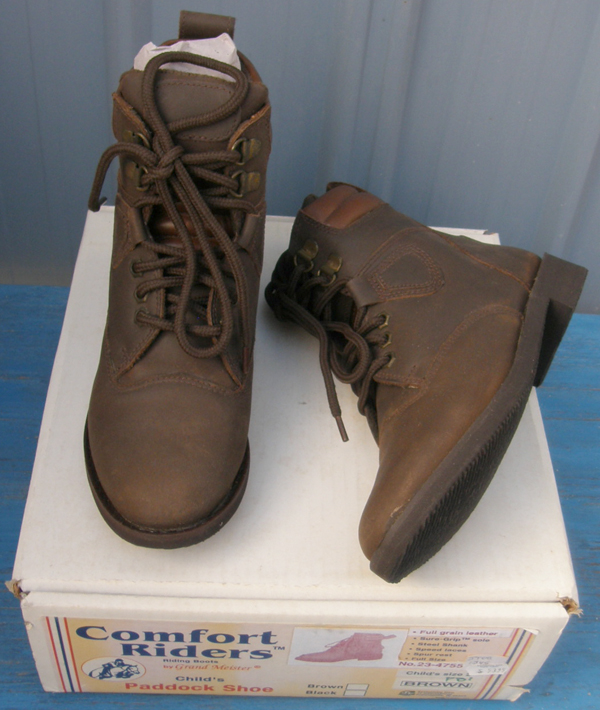 NEW Kid/'s Size 1 Lace Up Leather Paddock Boots NEW in Box-Brown