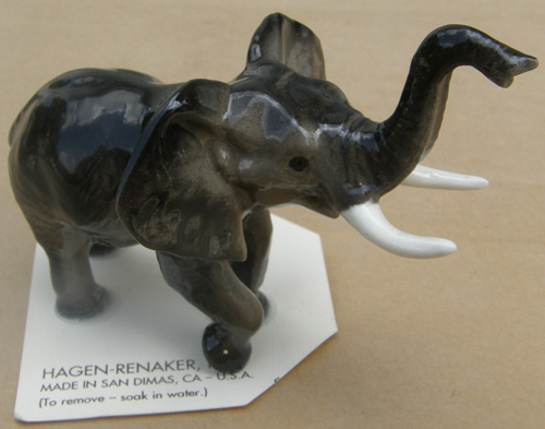 Vintage Hagen Renaker #263 Elephant Mama Facing Left HR Mini China Ceramic Elephant Figurine