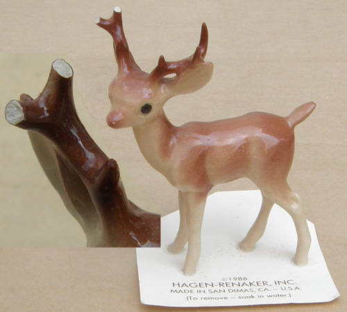 Vintage Hagen Renaker #189 Deer Papa HR Mini China Ceramic Buck Deer Figurine