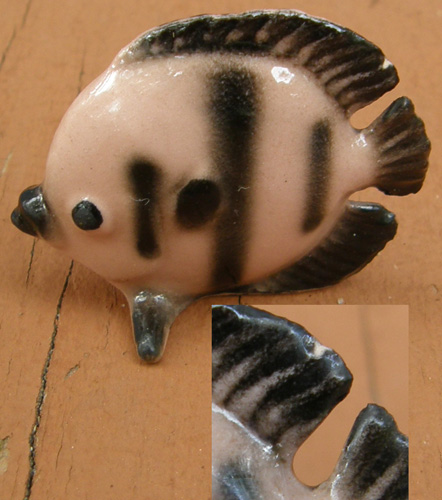 Vintage Hagen-Renaker #423 Flat Fish HR Mini China Fish Figurine