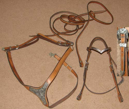Metal Ring Browband Headstall