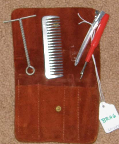 Mane & Tail Braiding Kit with Leather Pouch