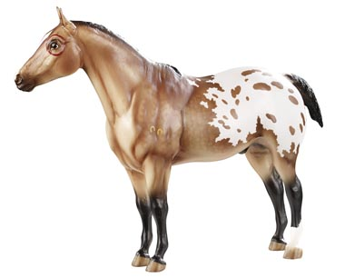 Breyer Horse #1706 Indian Pony with Feather Buckskin Blanket Appaloosa Performance Horse App Indian Pony