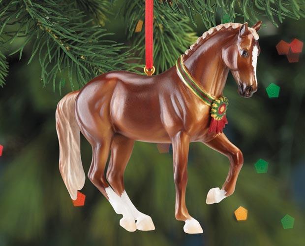 breyer 700513 chestnut warmblood horse beautiful breeds christmas ornament holiday horse ornament 2013 - Horse Christmas Ornaments