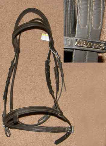 Wintec English Bridle Wintec English Headstall Synthetic English Bridle Dark Brown Horse