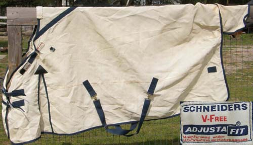 "80"" OF Schneiders AdjustaFit Dura-Mesh Fly Sheet Turnout UV Protective Sheet"