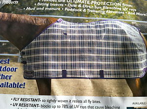 "Kensington Protective Sheet Heavy Duty Fly Turnout Sheet Fly Sheet 68"" 70"" 72"" 76"" 78"""