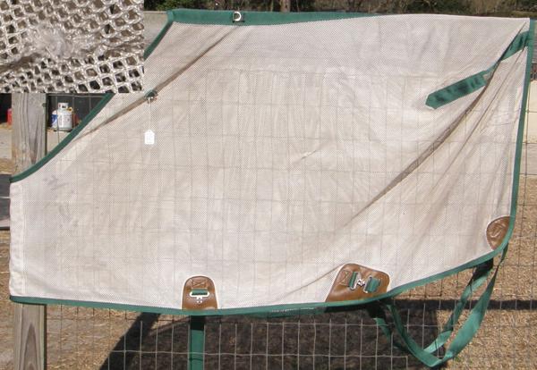 "78"" CF BMB Nylon Scrim Sheet Stable Summer Sheet Turnout Style Fly Sheet Tan/HG"
