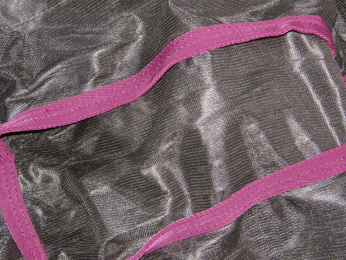 "Saxon 84"" SoftMesh Fly Sheet Standard Neck Soft Mesh Fly Sheet Belly Band Grey/Pink"
