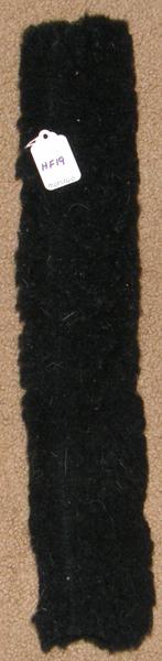 Halter Fleece Tube Piece with Velcro Noseband Crown Piece Harness Strap Fleece Cover Black