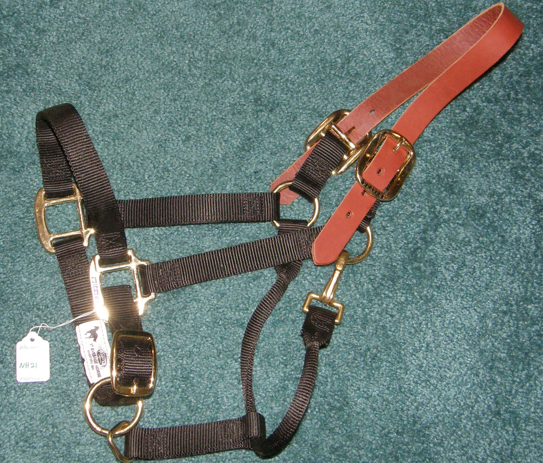 PONY TURN OUT HALTER GATSBY HEAVY NYLON BREAKAWAY SAFETY COBB HORSE OR MED LG