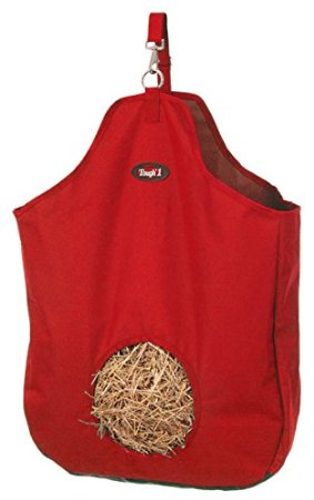 Tough-1 Nylon Tote Hay Bag Hay Net Red