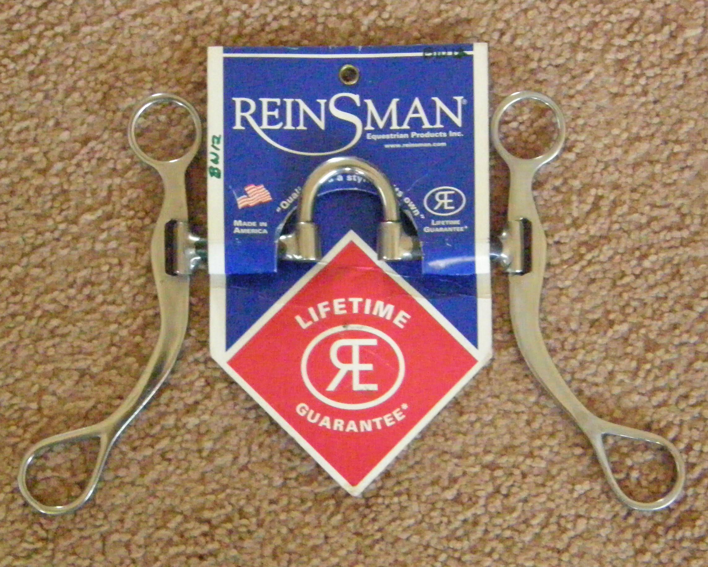 "Reinsman 5"" Medium Port Correction Bit Sweet Iron Steel Cutter Bit 3 pc Western Curb Bit"