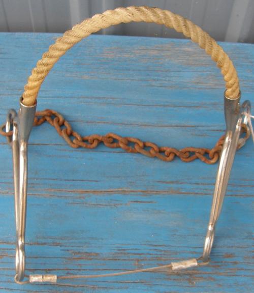 Reinsman Beetle Hackamore Rope Nose Western Hackamore Bit