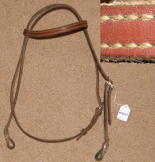 how to make a leather browband