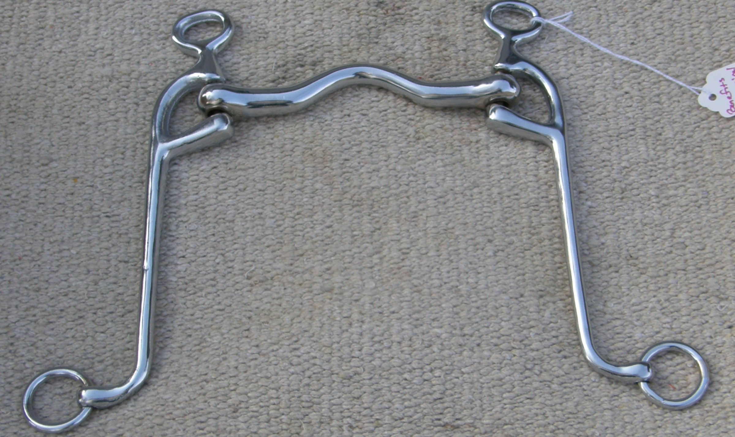 Western Low Port Horse Show Bit Hand engraved Silver bar cheeks